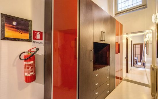 Spacious and Large Wardrobe in Luxury Apartments | Accomodation in Rome, Italy