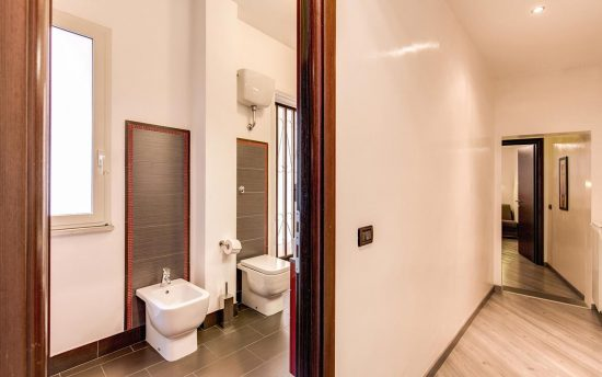 Atena 3. Remodeled Bathroom with Modern Accessories | Historic Palace in Ancient Rome, Italy