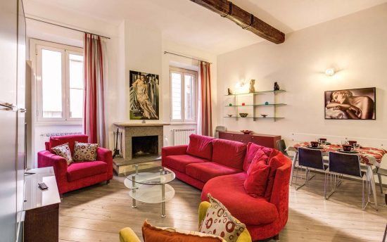 Atena 3. Living Room in Luxury Apartments, Rome, Italy | Apartments in the Center of Rome, Italy