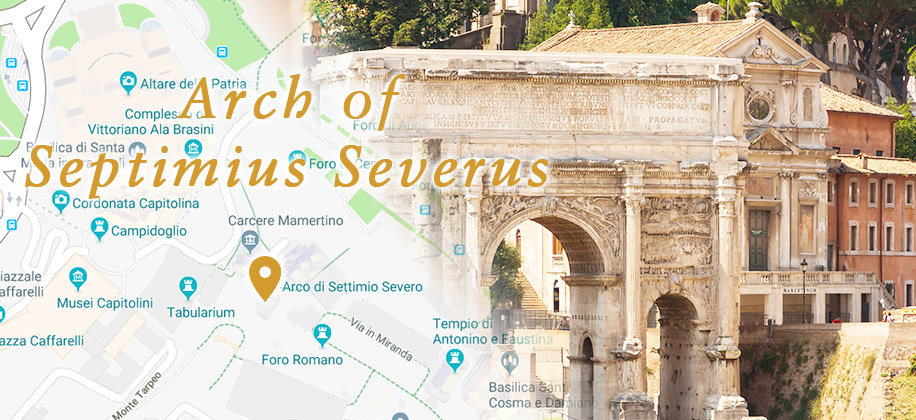The Arch of Septimius Severus in the Ancient Rome