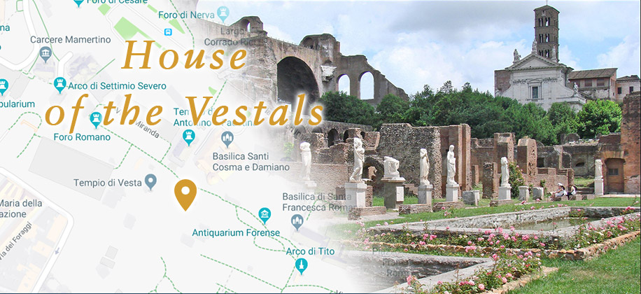The House of the Vestal Virgins at the Roman Forum