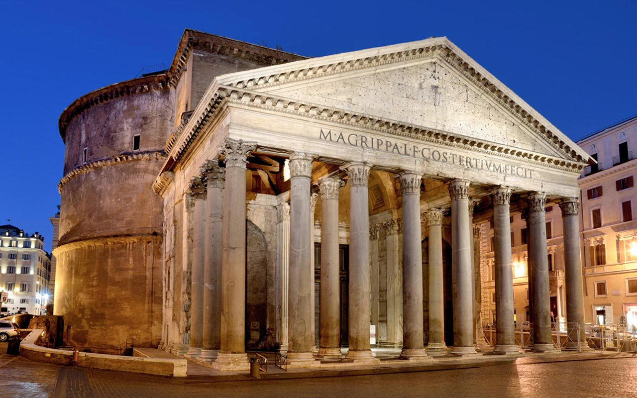Pantheon, one of most important monuments in Rome
