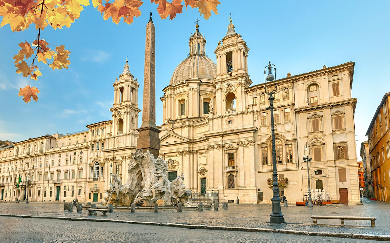 Piazza Navona the most beautiful square in Rome