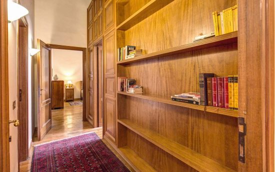 Apartment in rome center. Large and Modern Wooden Bookcase | Apartments in the Center of Rome, Italy