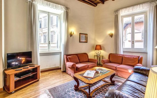 Apartment in rome center. Large Living Room with Double Sofa | Apartments in the Center of Rome, Italy